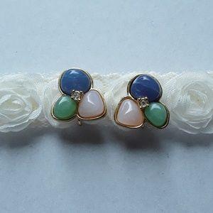 Avon Jewelry - Avon Tourmaline Impressions clip on earrings